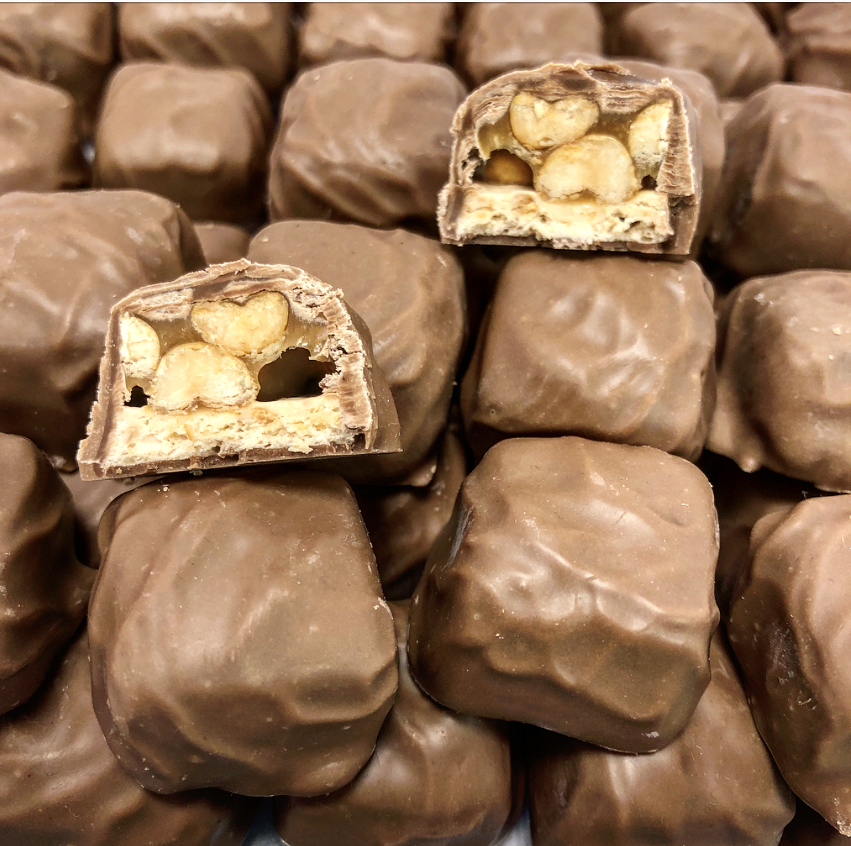 Dunmore Candy Kitchen Posts: Chocolate Peanut Caramel Nougatine • Dunmore Candy Kitchen