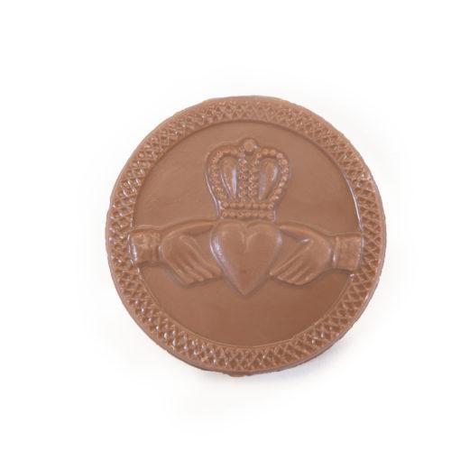 Chocolate Irish Claddagh Medallion